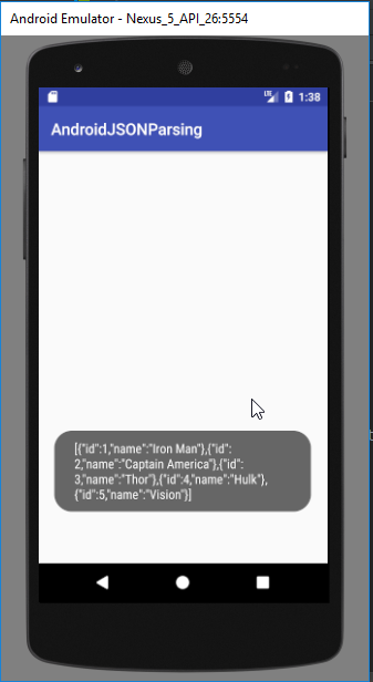 android json parsing