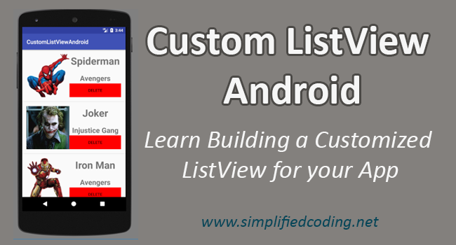 custom listview android tutorial