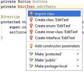 import class