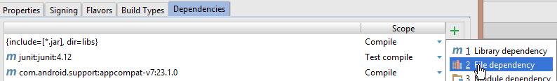 file dependencies
