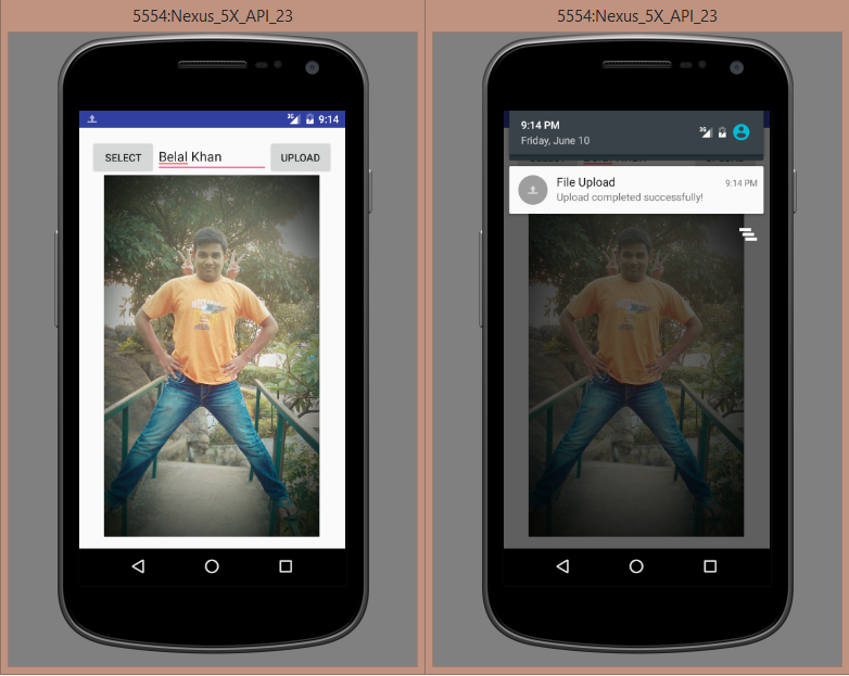 android upload image example app