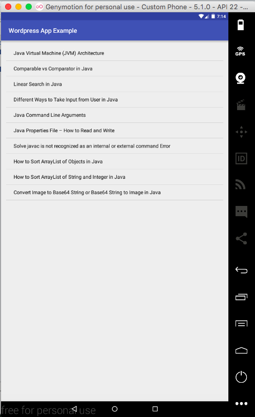wordpress to android app tutorial