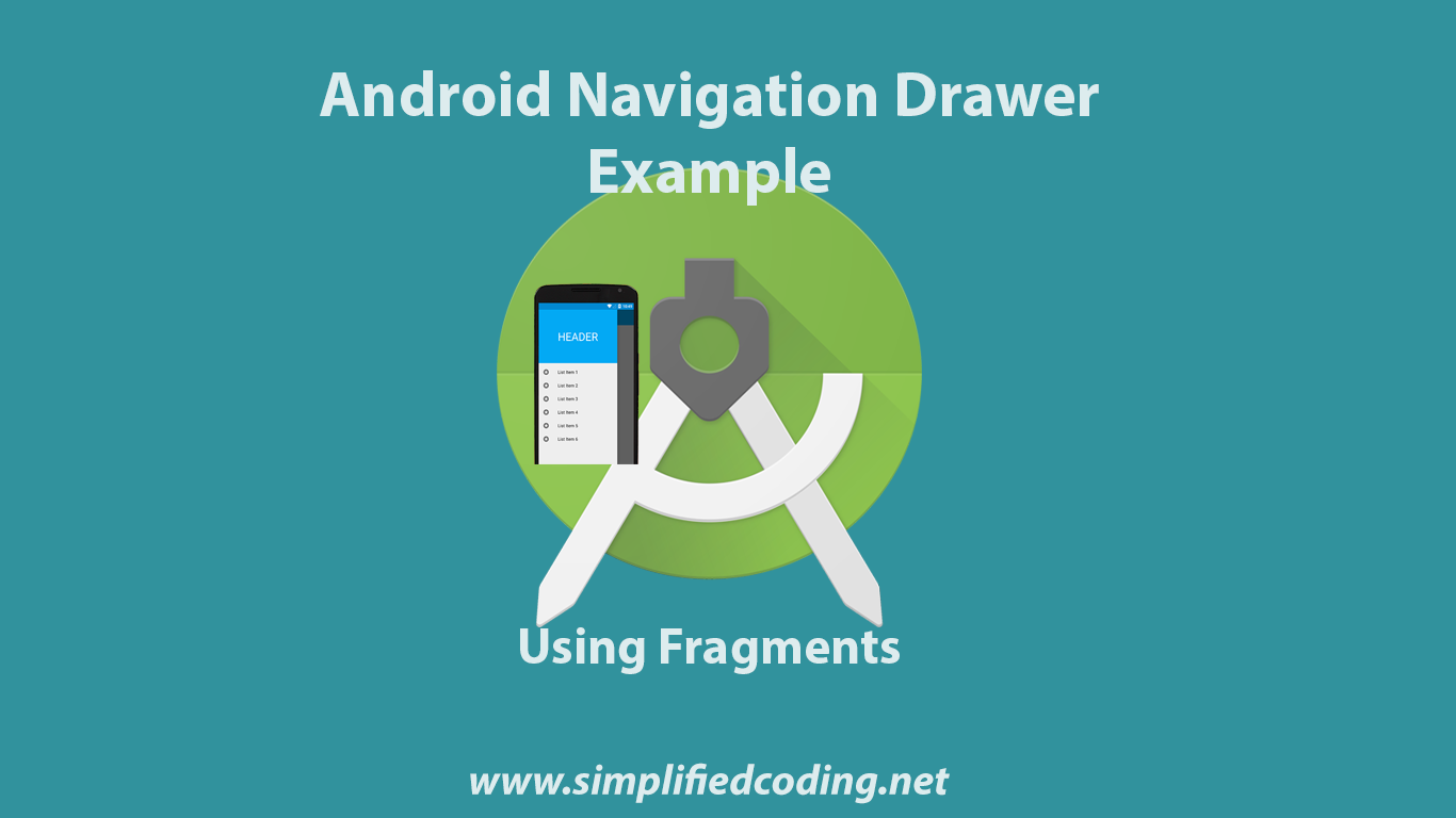 android navigation drawer example