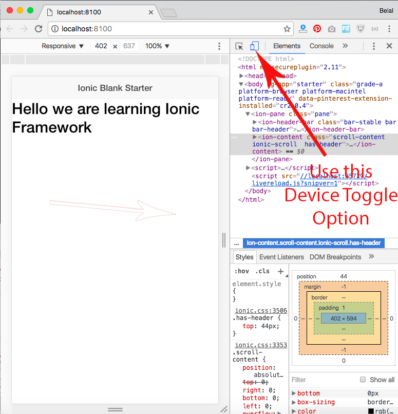 ionic framework tutorial
