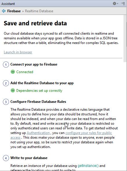 save and retrieve data
