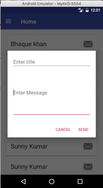 message alert dialog