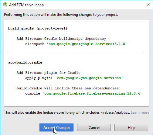 add fcm to your app