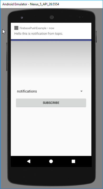 topic notification