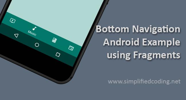 bottom navigation android tutorial