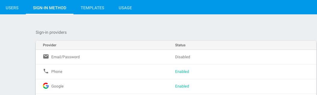 Enabling Firebase Phone Authentication