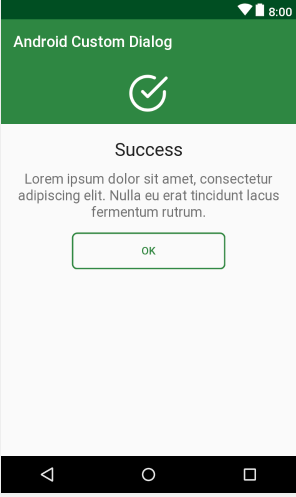 Android Custom Dialog Example