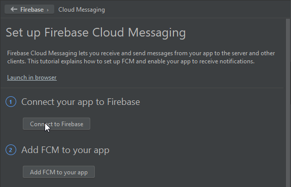 Connect to Firebase