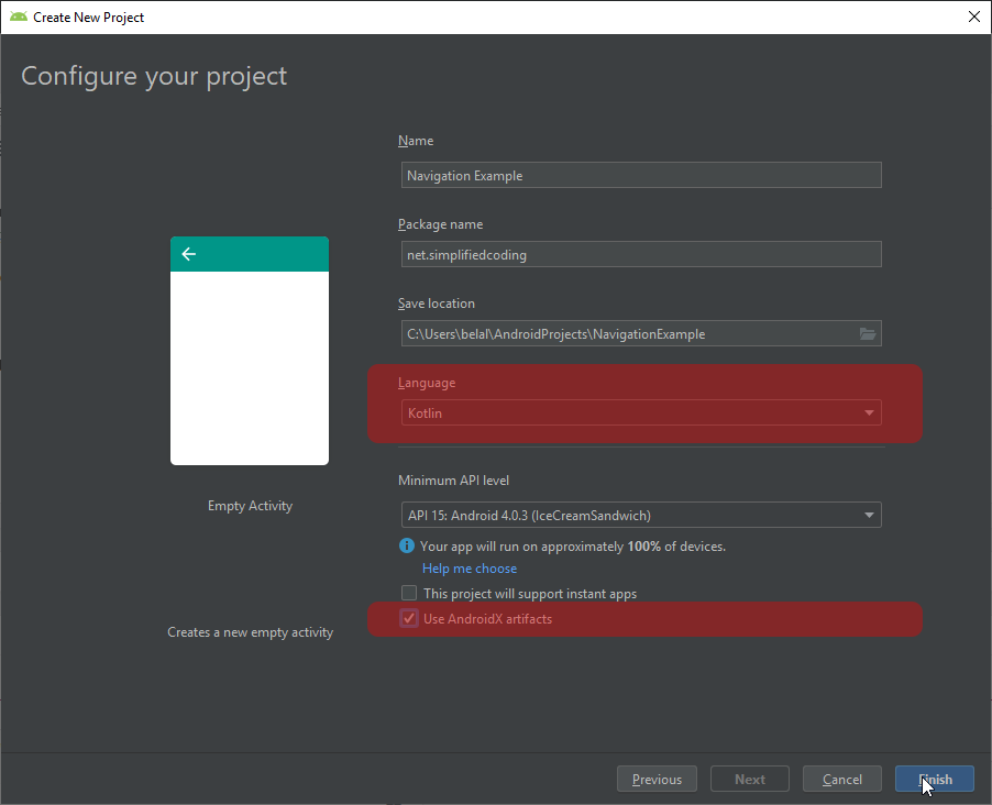 Creating Android Project