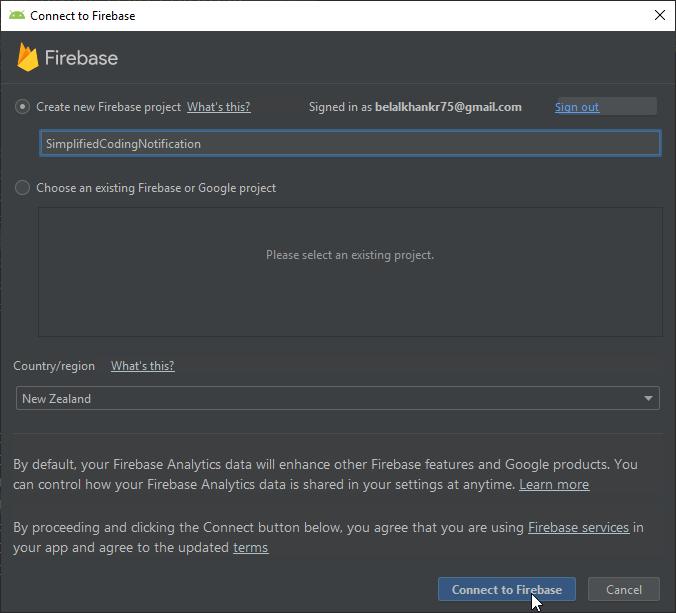 Creating Firebase App