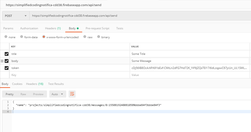 Send Notification API