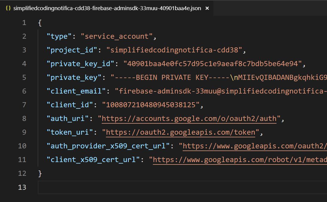 Service Account JSON