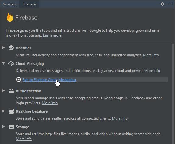 adding firebase