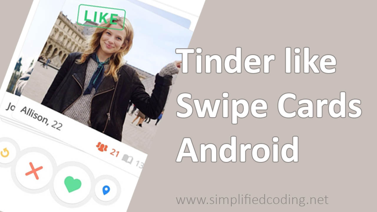 Building Tinder Like Swipe Cards in Android
