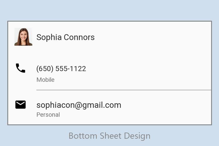 bottom sheet android design