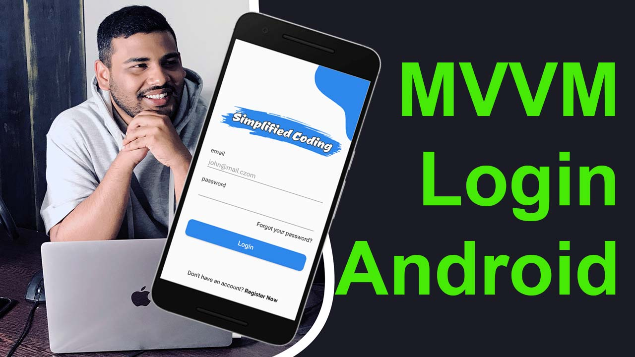 MVVM Login Example Android using RESTFul API with OAuth2